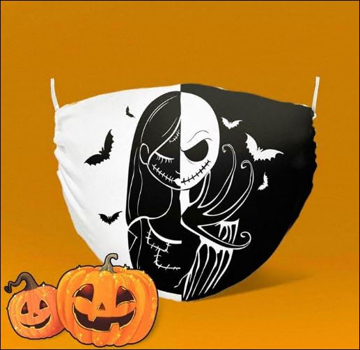 Halloween Jack Skellington and Sally face mask