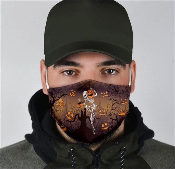 Halloween Skeleton and pumpkin face mask