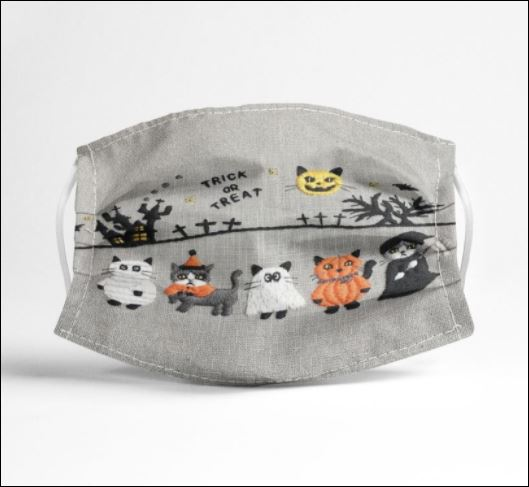 Halloween cats trick or treat face mask