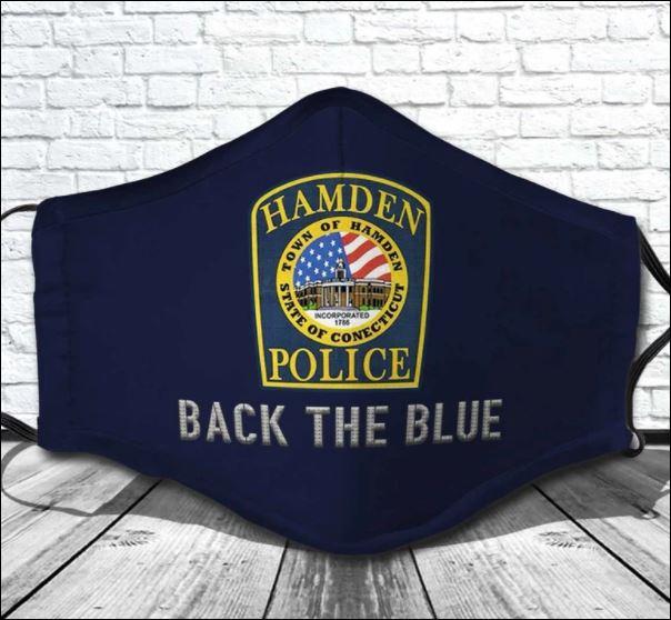 Hamden Police back the blue face mask