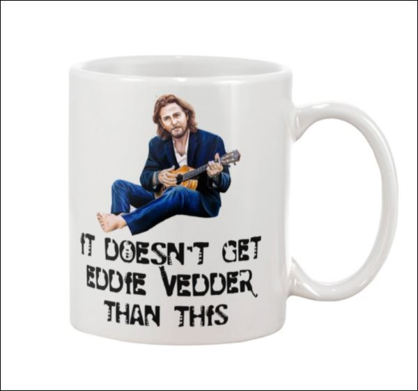 It doesn't get eddie vedder than this mug