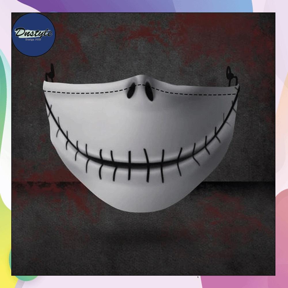 Jack Skellington mouth 3D face mask