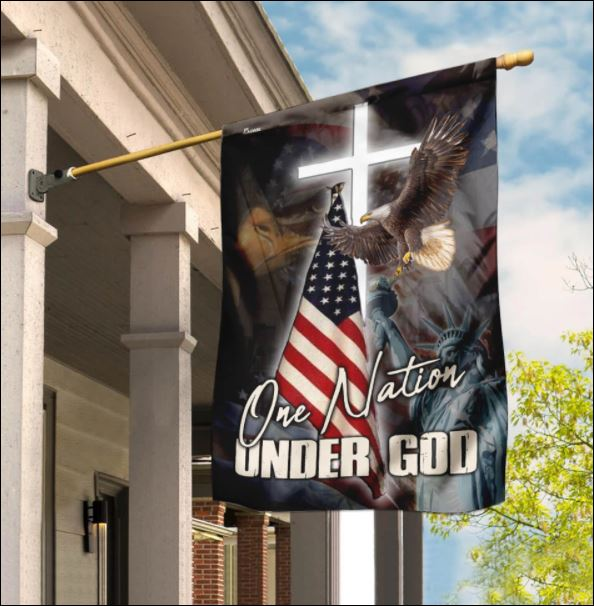Jesus one nation under God American flag