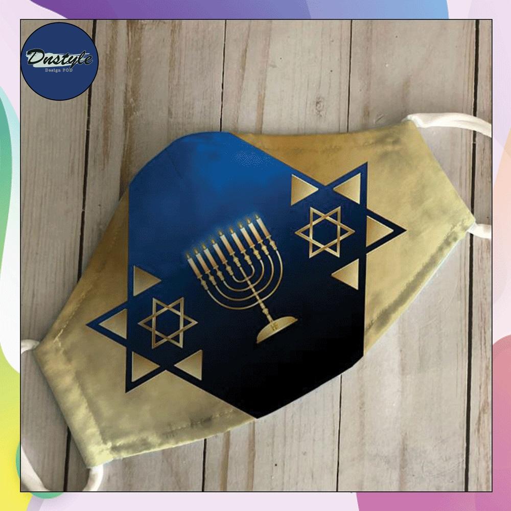 Judaism Happy Hanukkah face mask