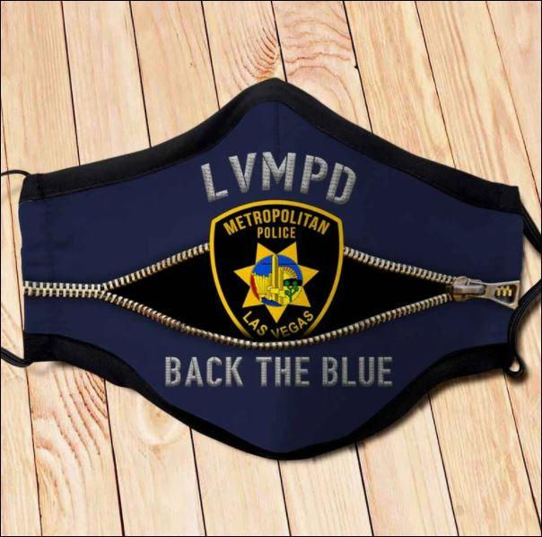 Las Vegas Metropolitan police back the blue face mask