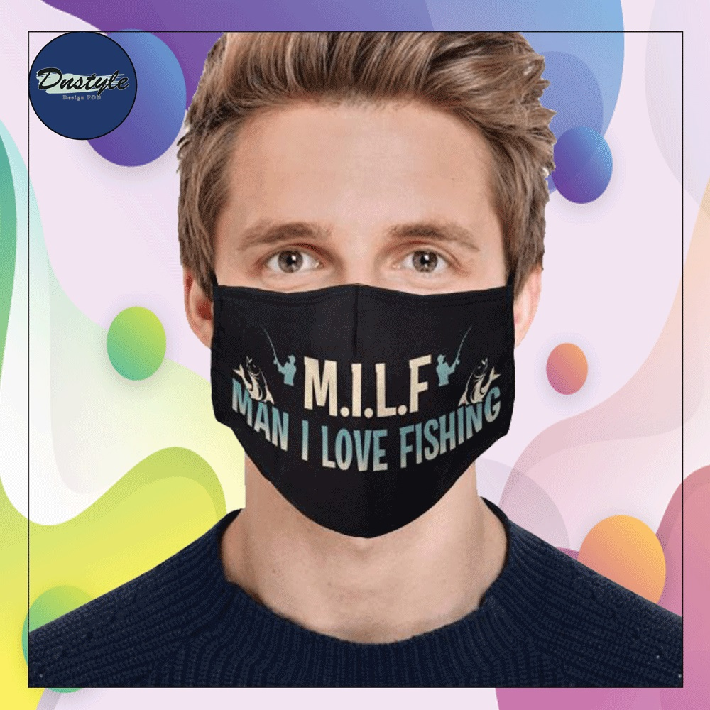MILF man i love fishing face mask
