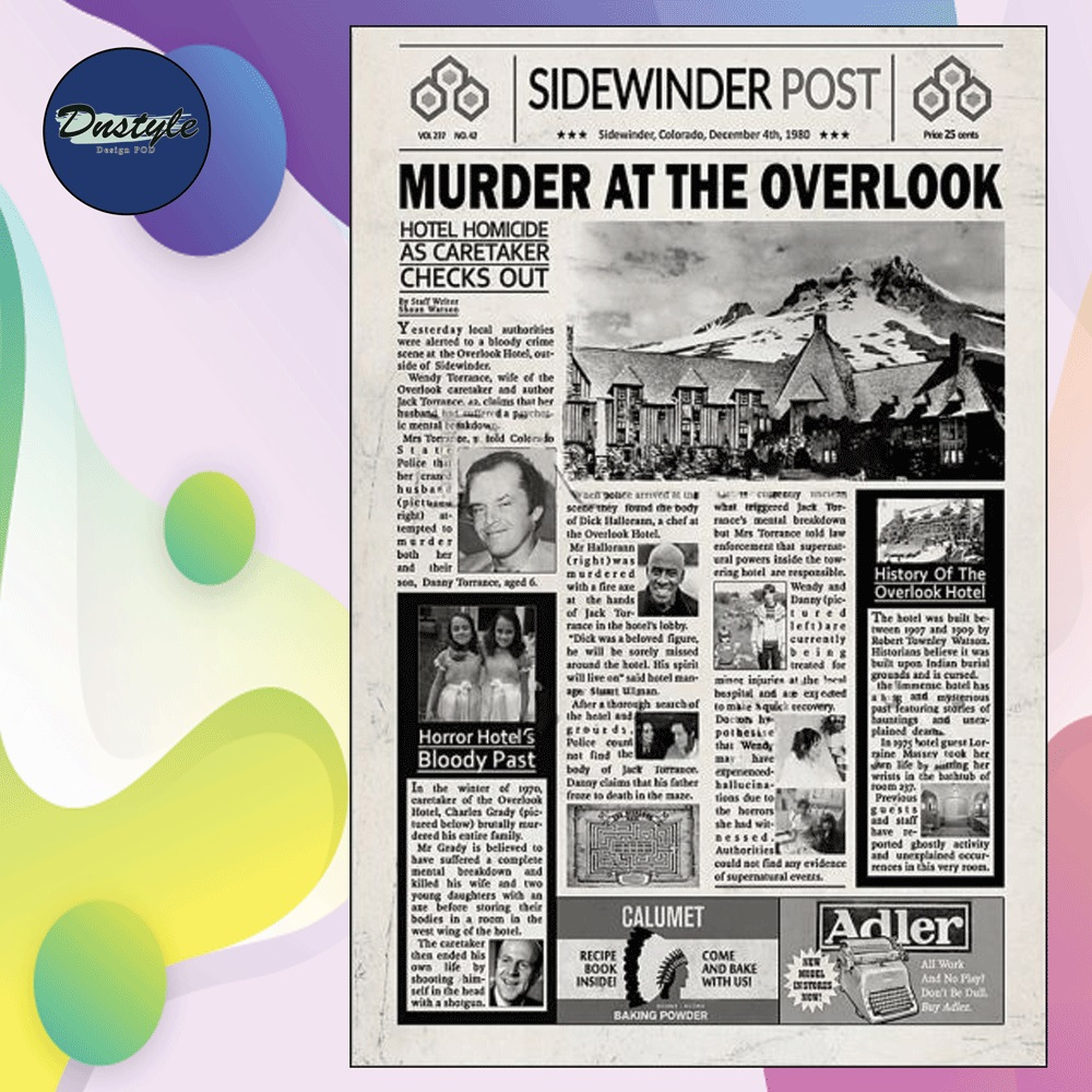 Murder at the overlook poster