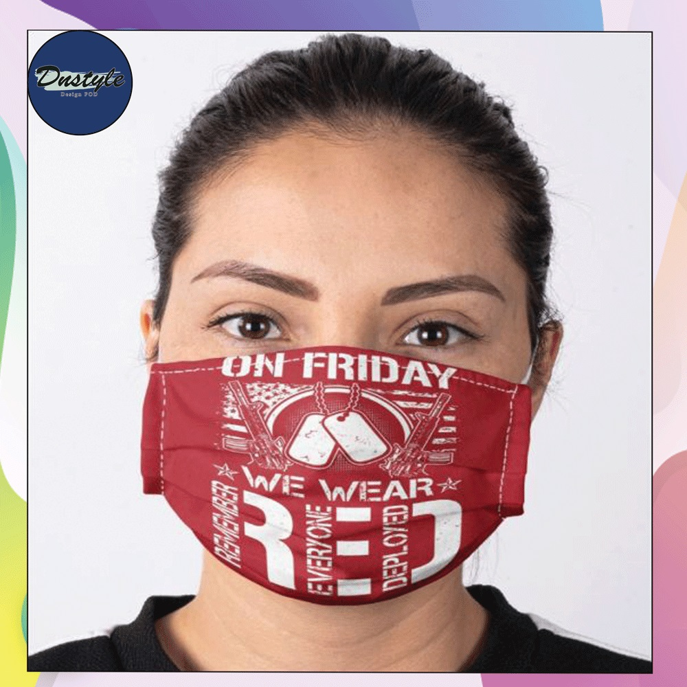 On friday we wear red face mask