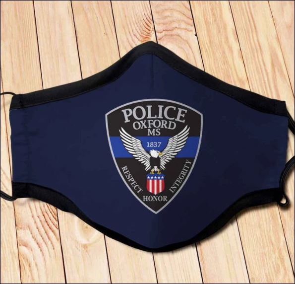 Oxford MS Police Department back the blue face mask