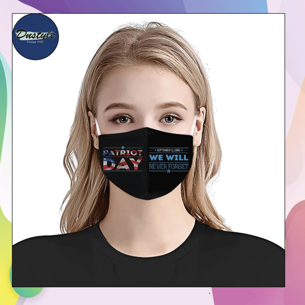 Patriot day we will never forget face mask