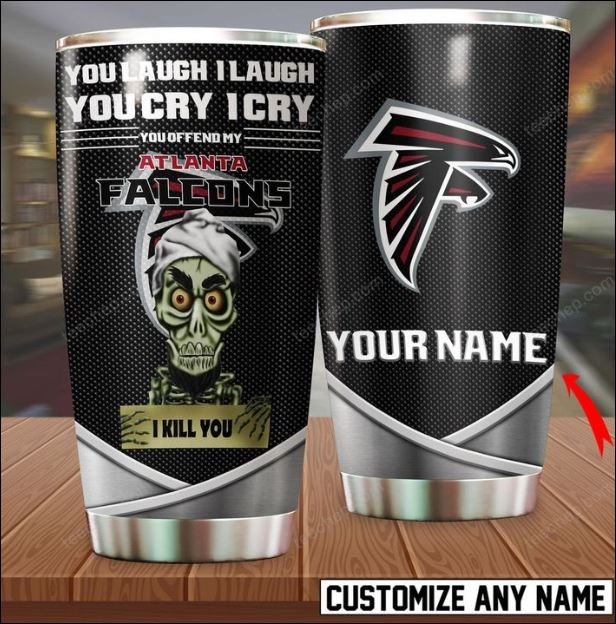 Personalized Achmed you laugh i laugh you cry i cry you offend my Atlanta Falcons i kill you tumbler