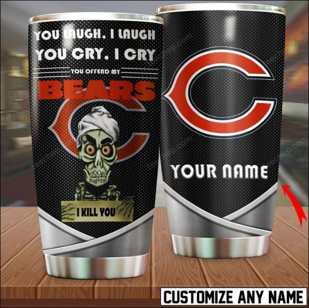 Personalized Achmed you laugh i laugh you cry i cry you offend my Chicago Bears i kill you tumbler