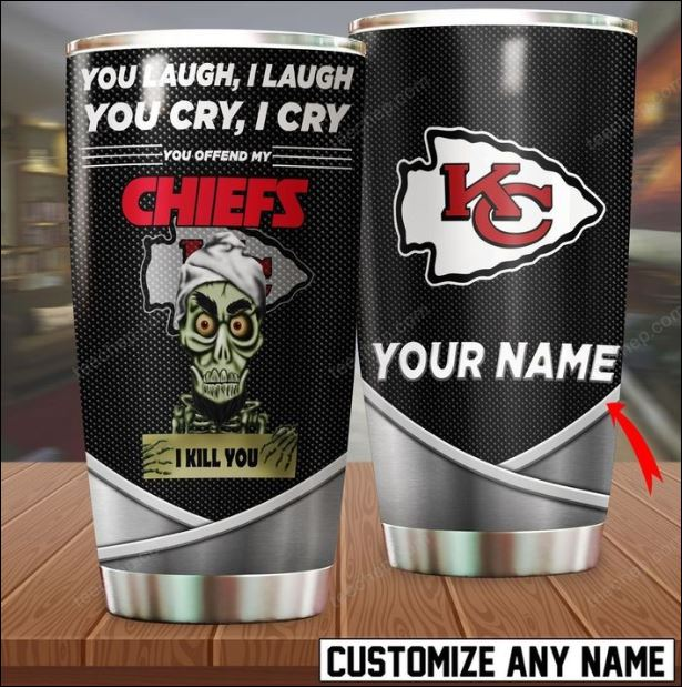 Personalized Achmed you laugh i laugh you cry i cry you offend my Chiefs i kill you tumbler