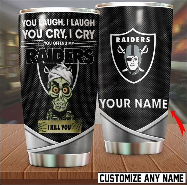 Personalized Achmed you laugh i laugh you cry i cry you offend my Oakland Raiders i kill you tumbler