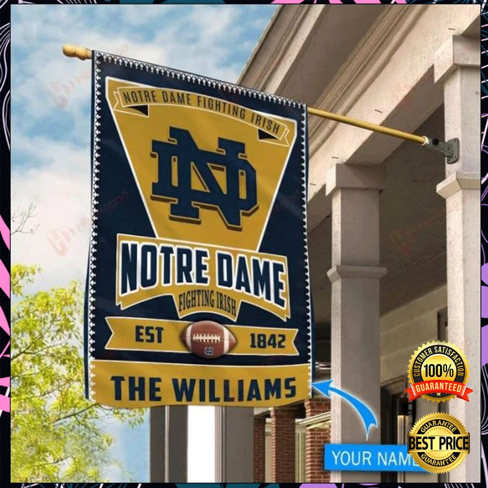 Personalized Notre Dame Fighting Irish est 1842 flag