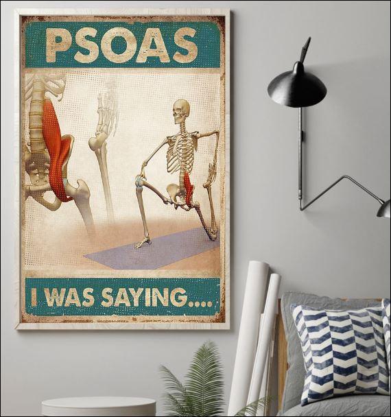 Psoas i was saying poster 1