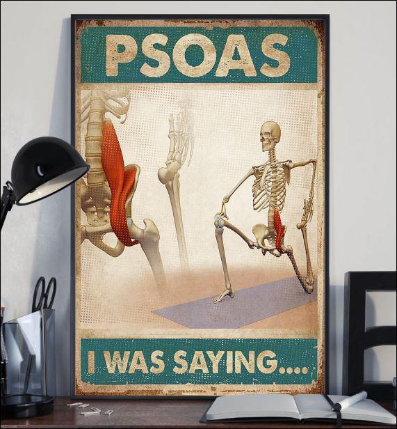 Psoas i was saying poster 2