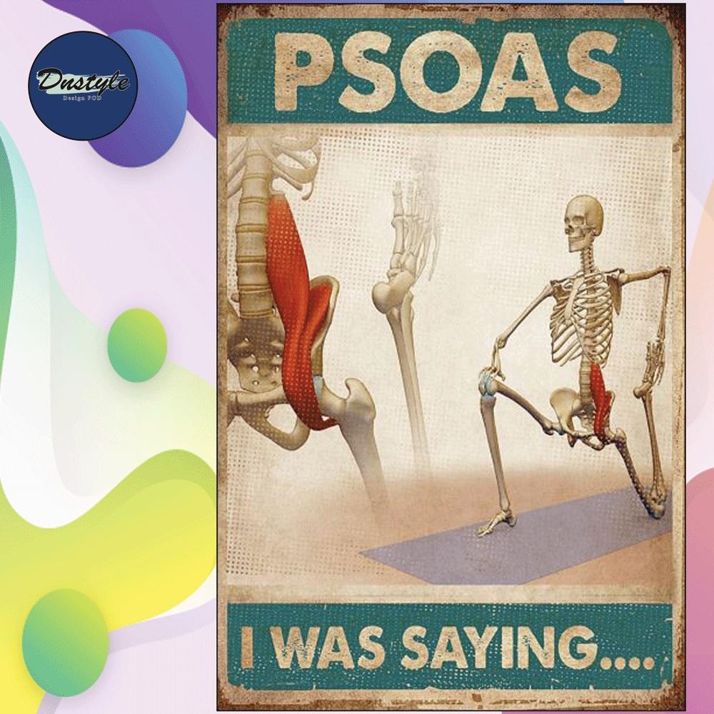 Psoas i was saying poster