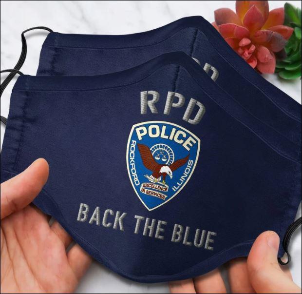 Rockford illinois police back the blue face mask