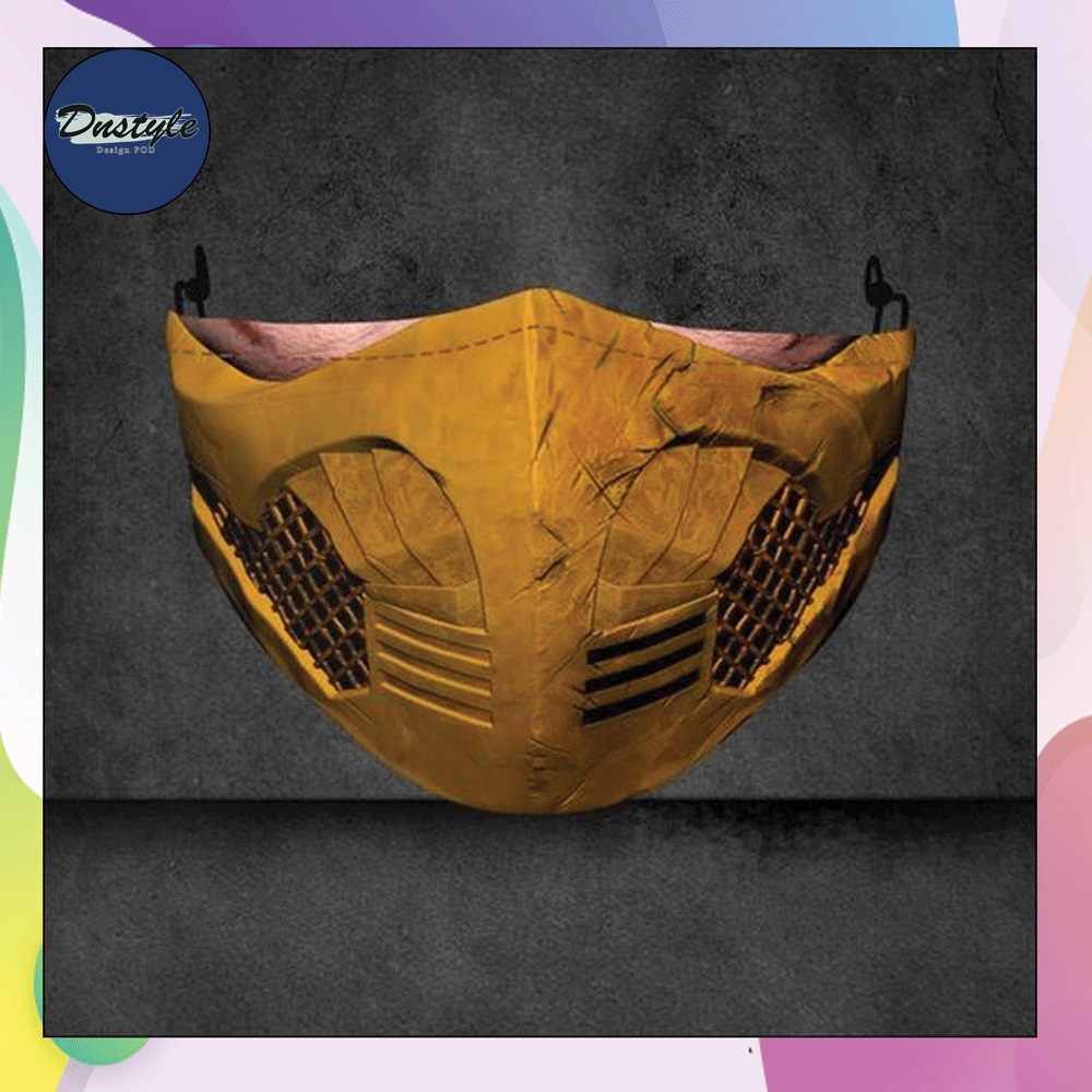 Scorpion mortal kombat mouth 3D face mask