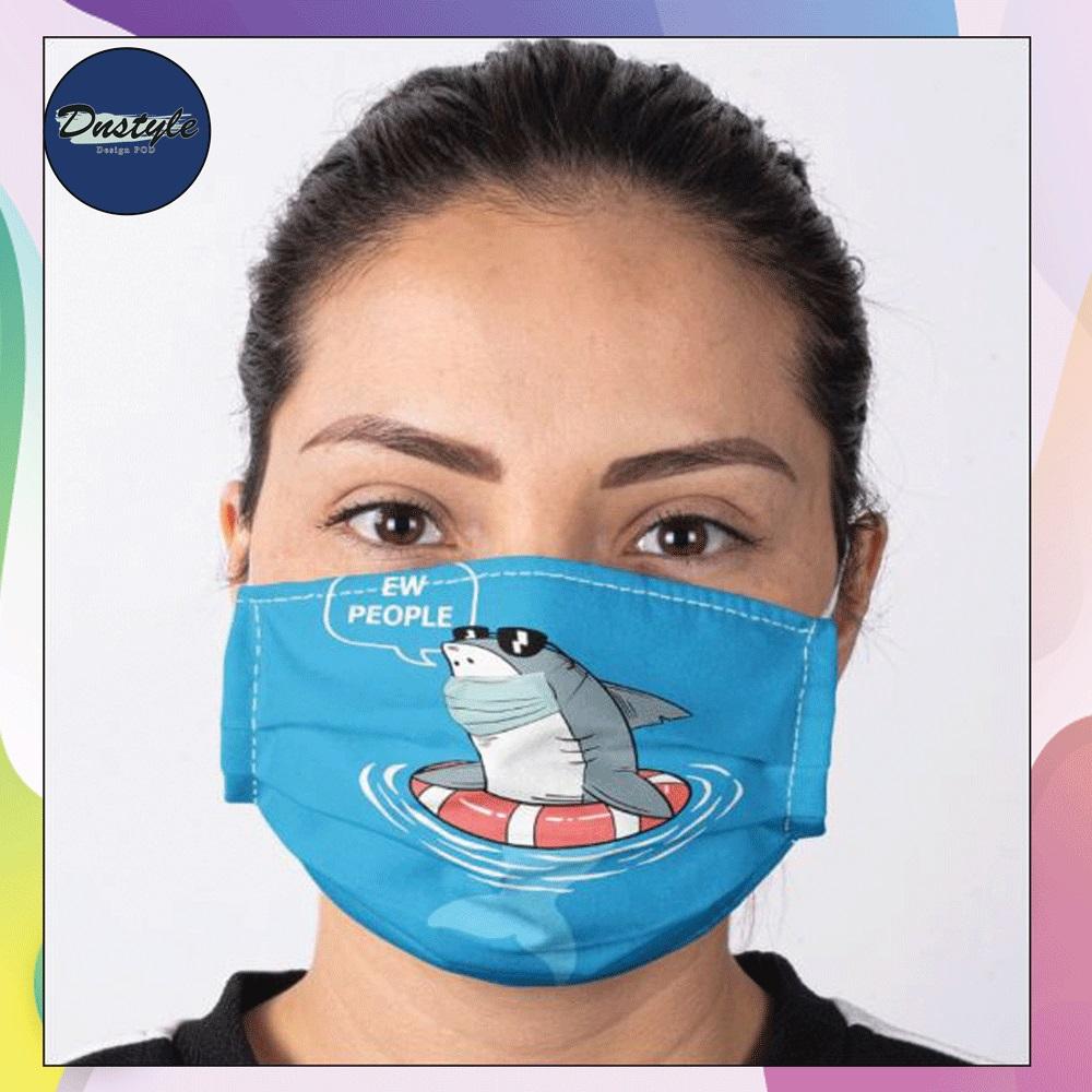 Shark wearing mask ew people face mask