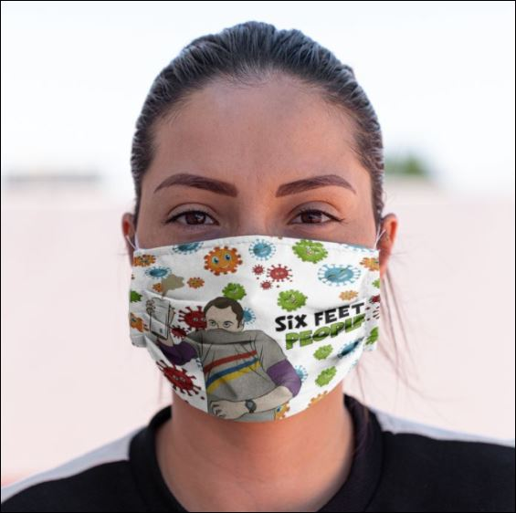 Sheldon six feet people coronavirus face mask