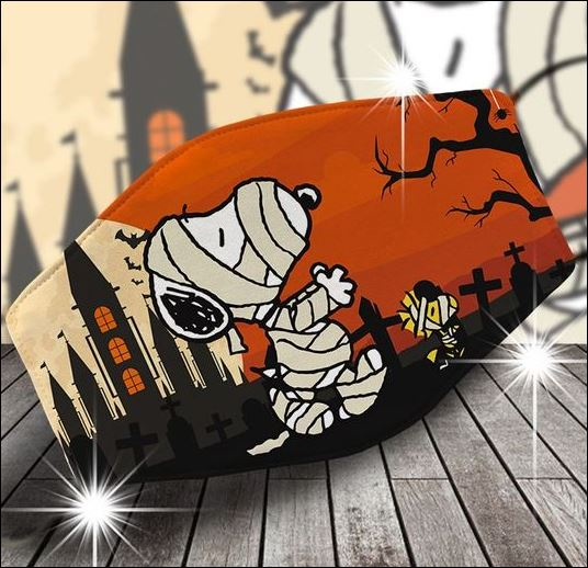Snoopy and Woodstock halloween face mask