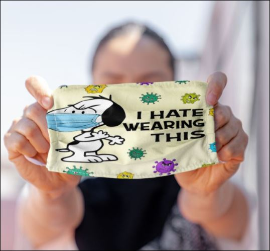 Snoopy i hate wearing this coronavirus face mask