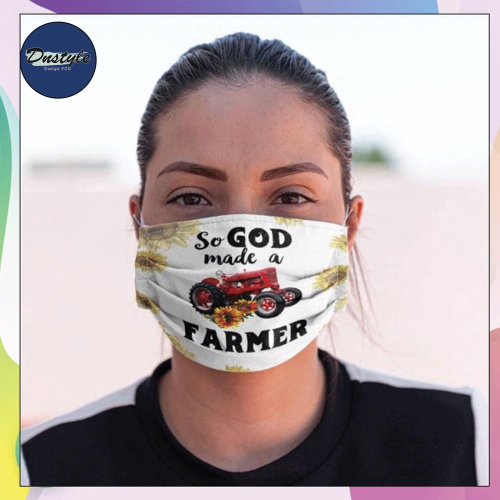 So God made a farmer face mask