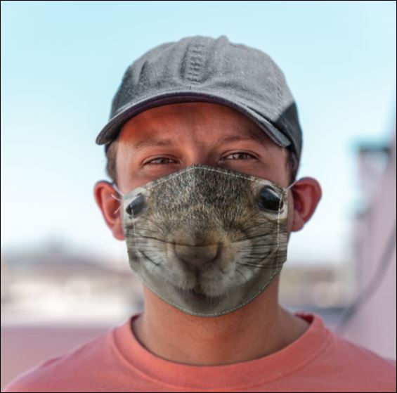 Squirrel mouth face mask