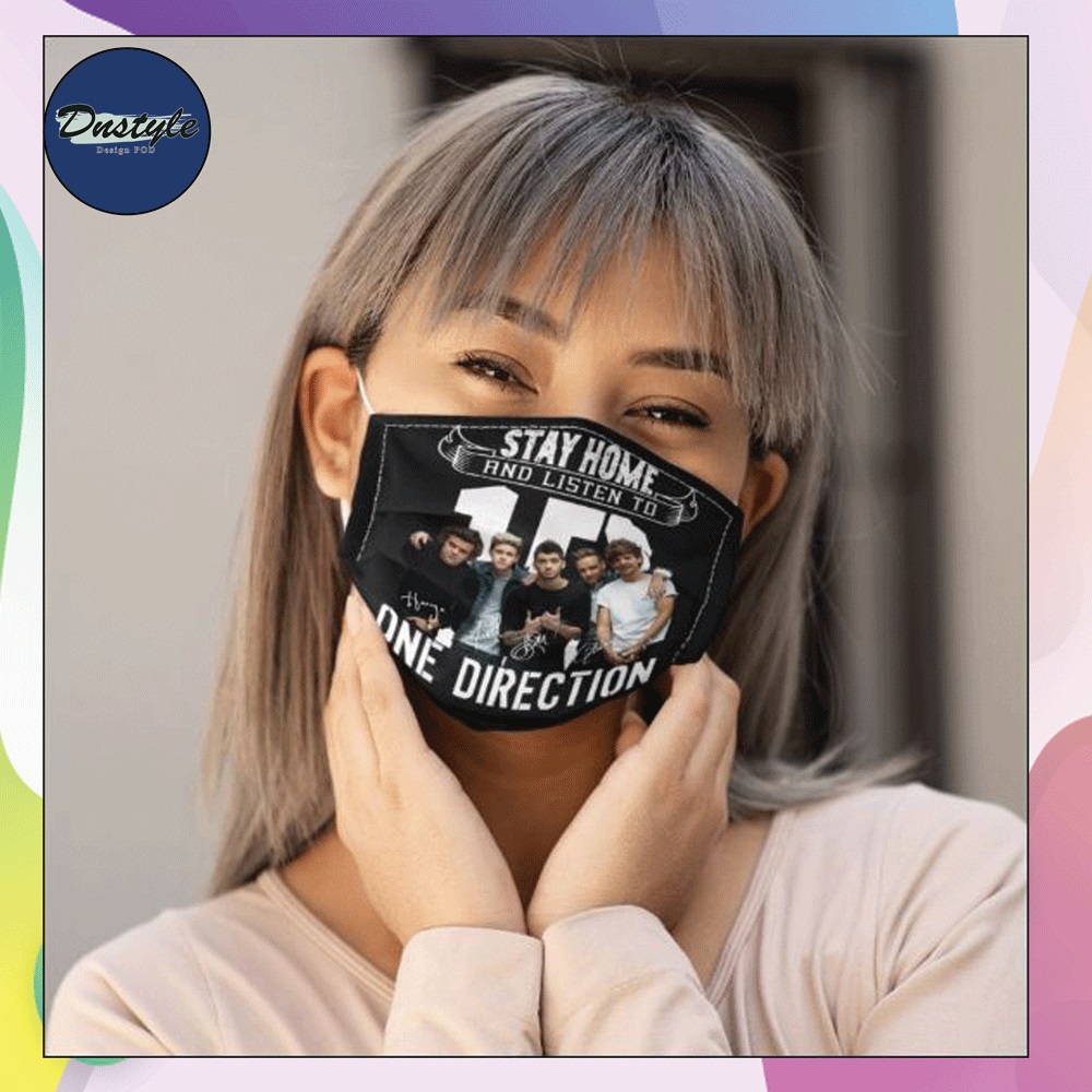 Stay home and listen to one direction face mask