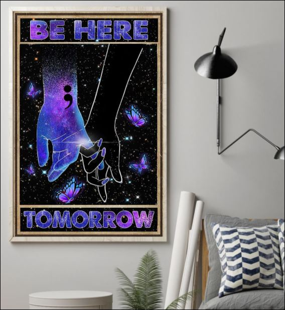 Suicide Prevention be here tomorrow poster 1