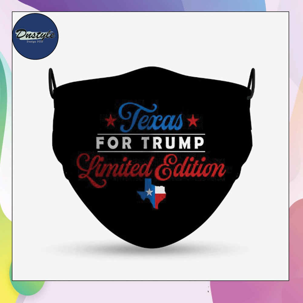 Texas for trump limited edition face mask