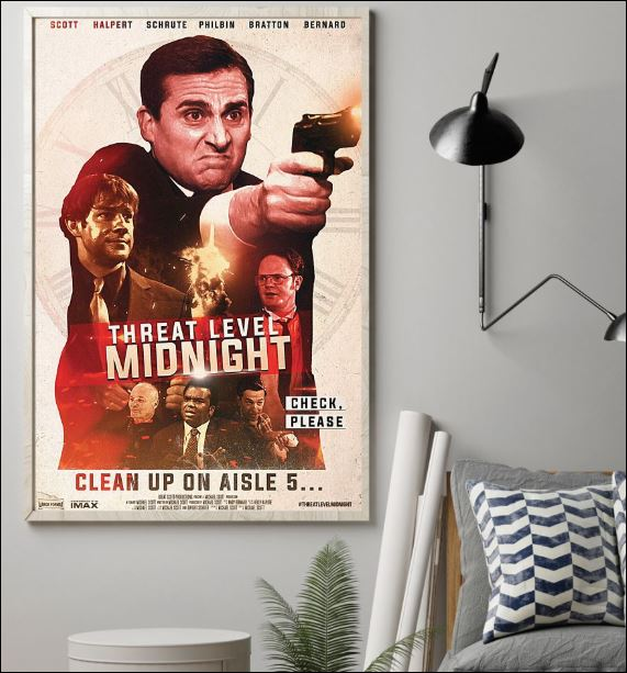Threat level midnight clean up on aisle 5 poster 1