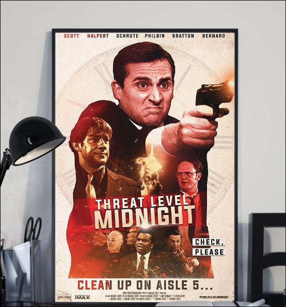 Threat level midnight clean up on aisle 5 poster 2