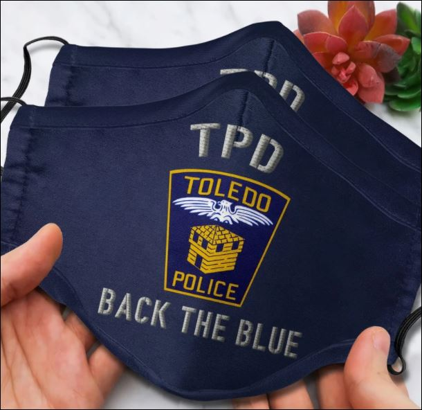 Toledo police back the blue face mask