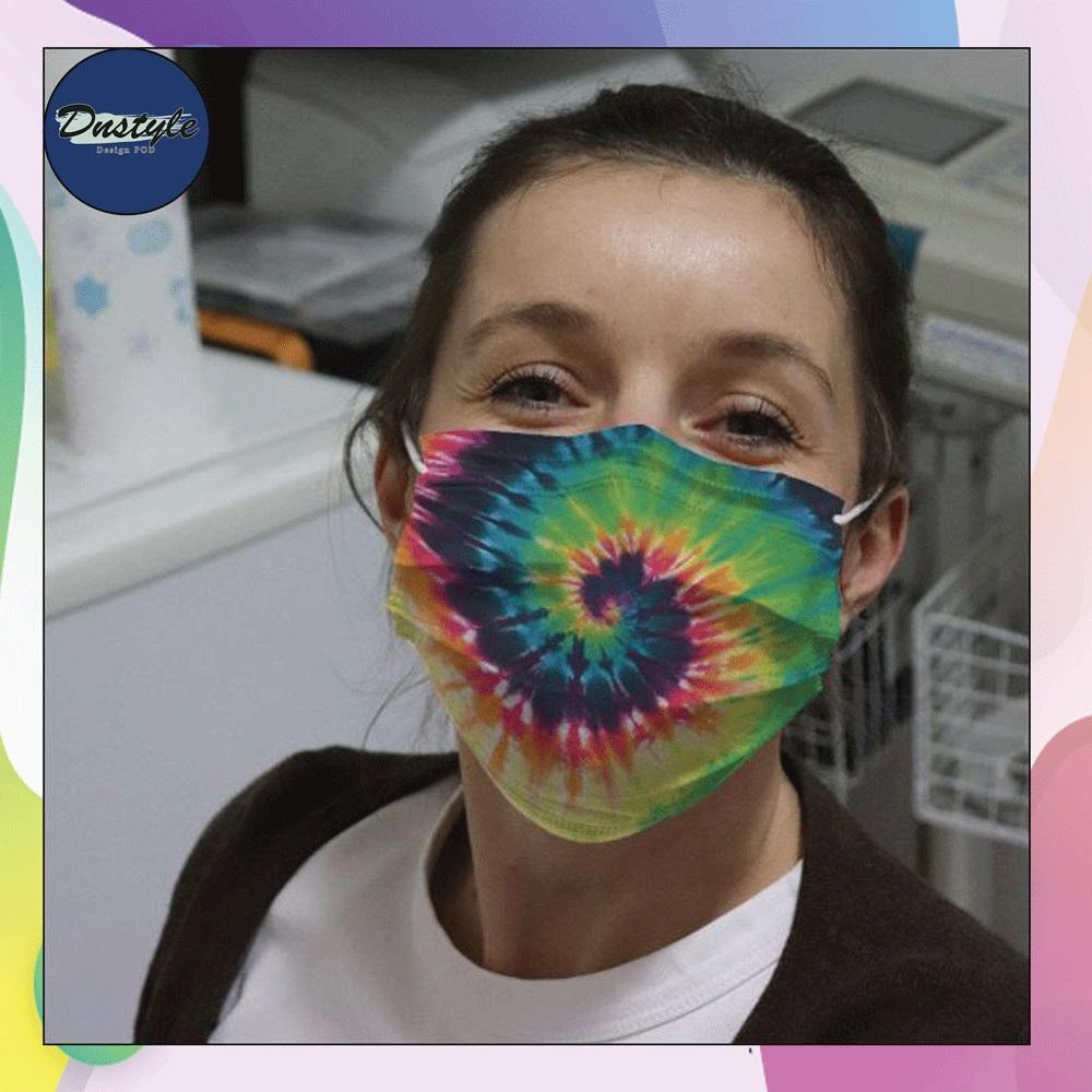 Vintage Tie Dye Psychedelic face mask