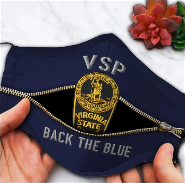 Virginia state police back the blue face mask