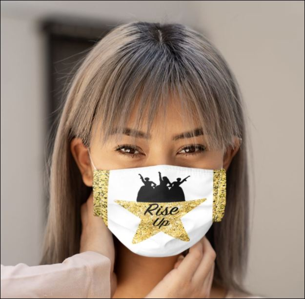 Women the rise up face mask
