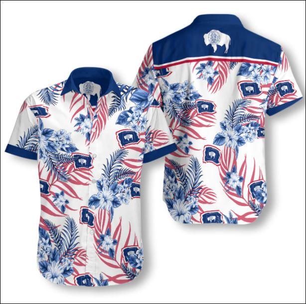 Wyoming tropical hawaiian shirt
