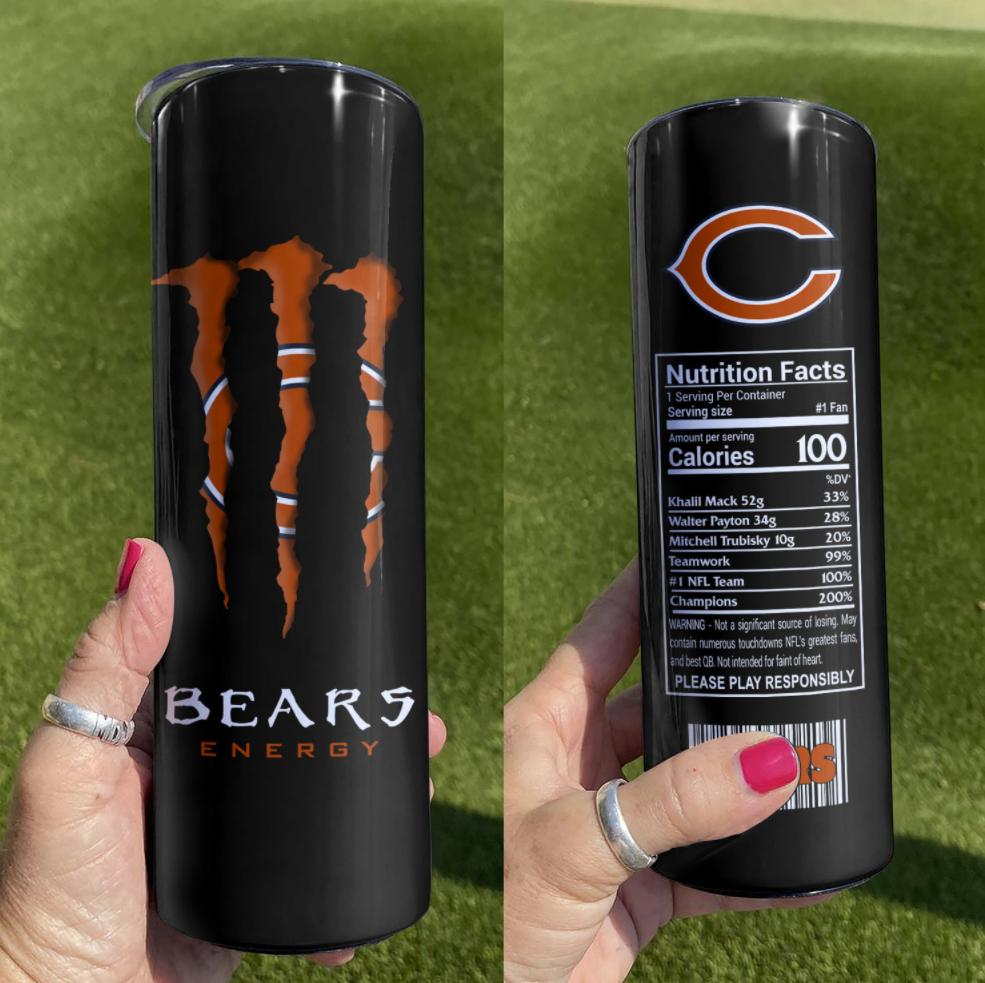 Bears Energy skinny tumbler