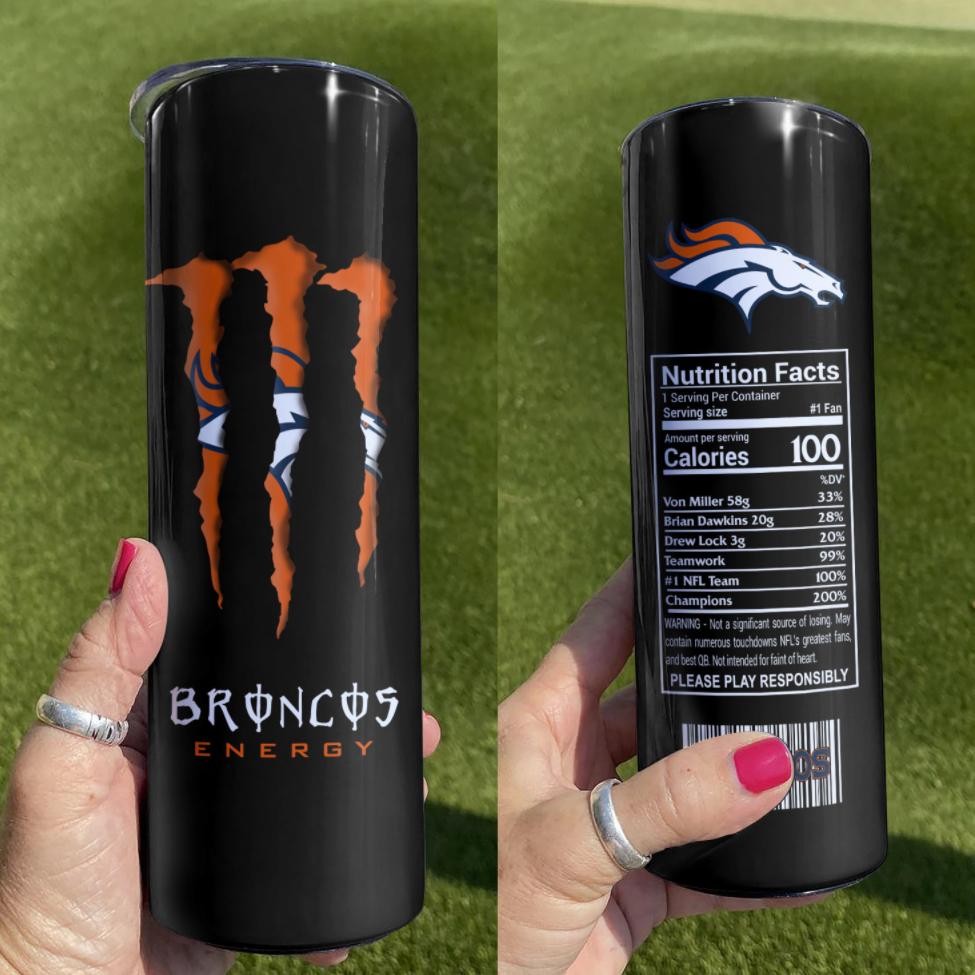 Broncos Energy skinny tumbler