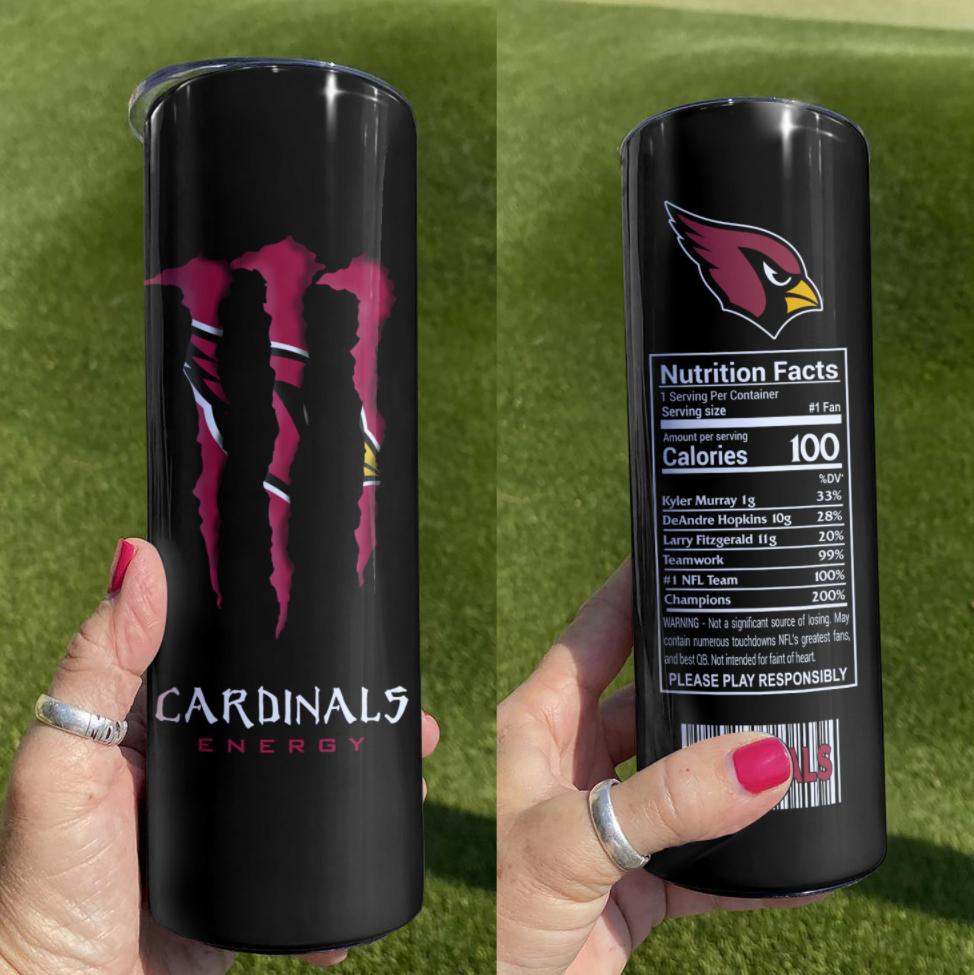 Cardinals Energy skinny tumbler