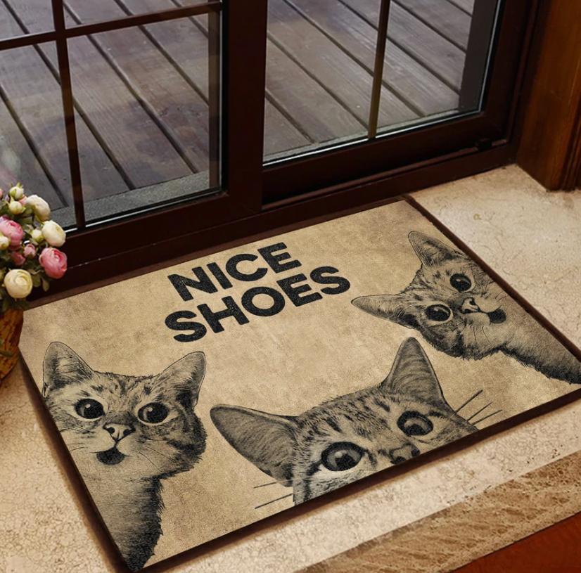 Cats nice shoes doormat