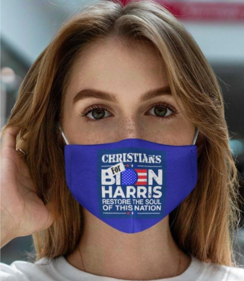 Christians for Biden Harris restore the soul of this nation face mask