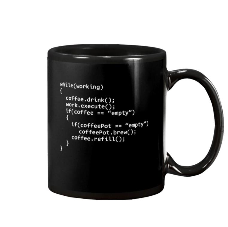 Coffee program code mug