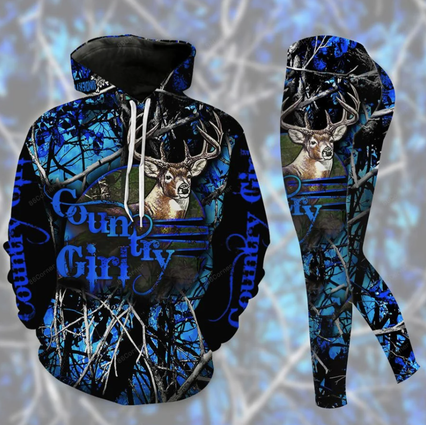 Country girl 3D hoodie and legging