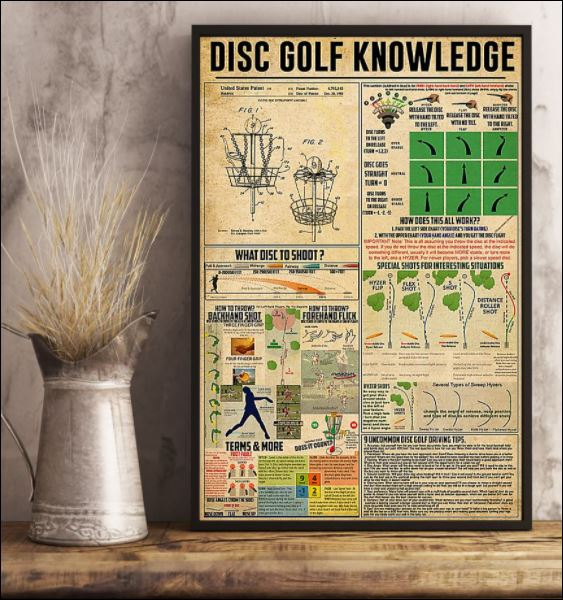 Disc golf knowledge poster 2
