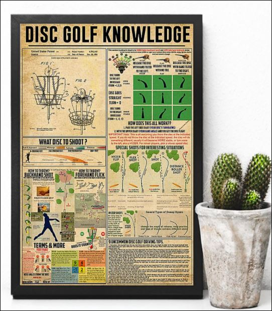 Disc golf knowledge poster 3