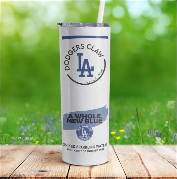 Dodgers claw skinny tumbler 1